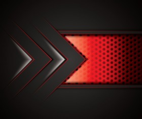 Black with red metal background vectors material 07