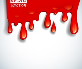 Blood drop effect background vector 02