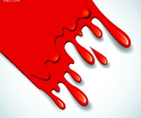 Blood drop effect background vector 03