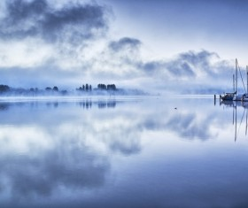 Blue Lake Constance Stock Photo