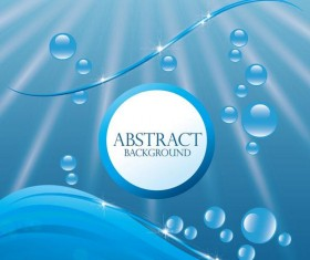 Blue background with water drop background vector