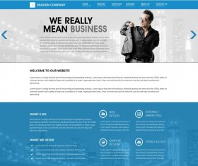Blue style Company Website PSD template