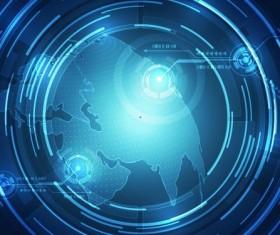 Blue tech background vectors 02