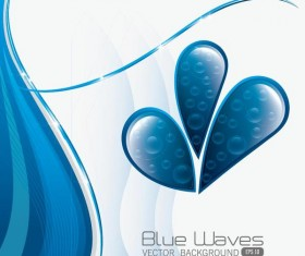 Blue wate with abstract background vector