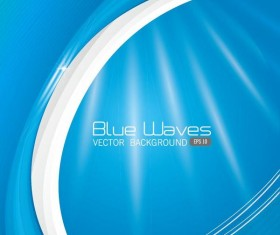 Blue waves with abstract background vectors