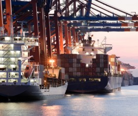 Cargo marine logistics Stock Photo 01