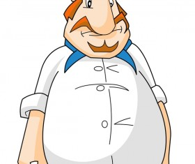 Cartoon chef illustiation vector