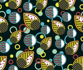 Cartoon elements seamless pattern vectors