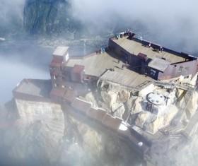 Chamonix France Blanc peak viewing platform Stock Photo