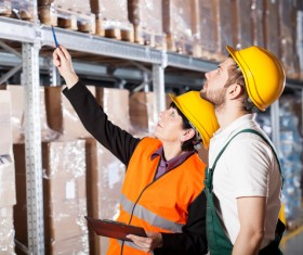Check logistics goods Stock Photo