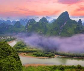 China Guilin scenic Lijiang River Stock Photo