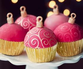 Christmas Cupcake Stock Photo 01