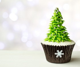 Christmas Cupcake Stock Photo 02