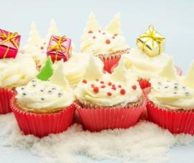 Christmas Cupcake Stock Photo 03