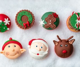 Christmas Cupcake Stock Photo 04