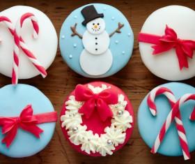 Christmas Cupcake Stock Photo 05