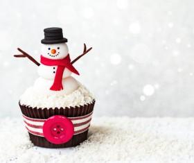 Christmas Cupcake Stock Photo 06