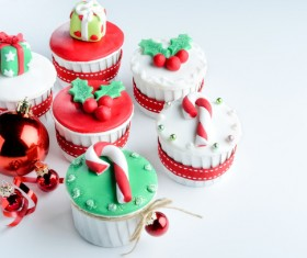 Christmas Cupcake Stock Photo 07