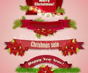 Christmas banner design vectors set 06