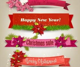 Christmas banner design vectors set 07