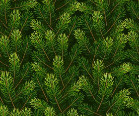 Christmas fir branches seamless pattern vector 02