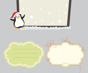 Christmas frames illustration vector set