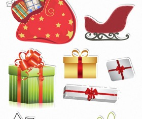 Christmas ornaments set vector 03