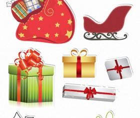Christmas ornaments set vector 03