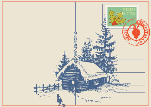 Рождественские открытки вектор 79