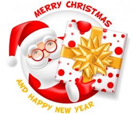 Christmas santa gift card vectors material