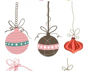 Christmas tree ornaments set vector