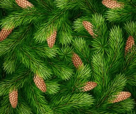 Christmas tree pattern seamless vectors 02
