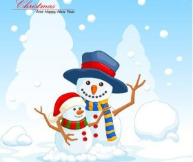 Christmas with new year winter background vector
