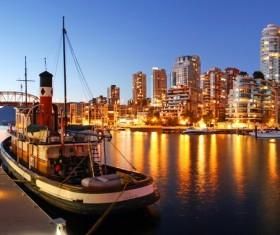 City beautiful night Stock Photo 02