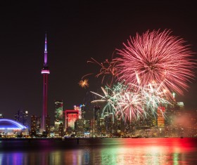 City beautiful night Stock Photo 03