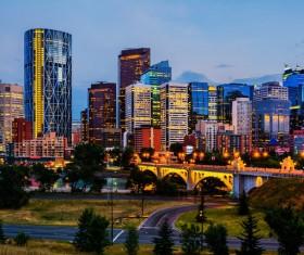 City beautiful night Stock Photo 07