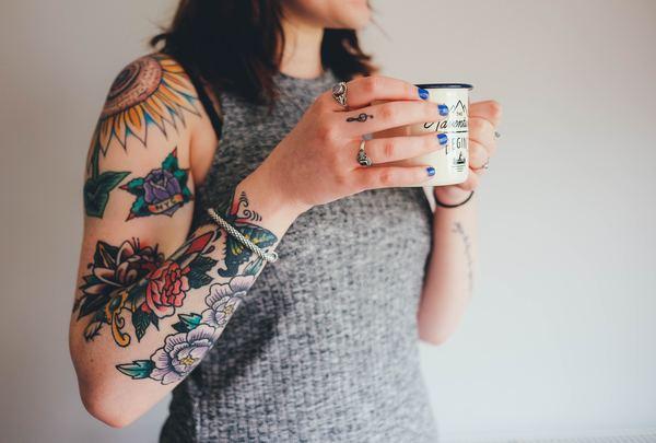 Arm woman tattoo