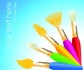 Colored paint pen background vector