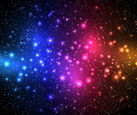 Colorful stars light background vectors