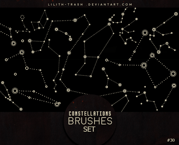 Constellations photoshop brushes