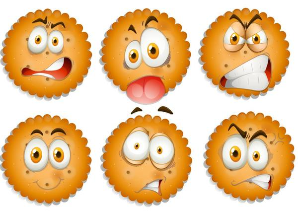 Cookies funny expression icons
