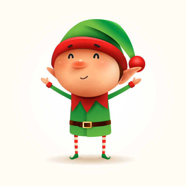 Cute Christmas Pictures.Cute Christmas Elf Illustration Vector Free Download