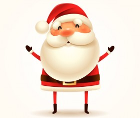 Cute christmas santa illustration vector