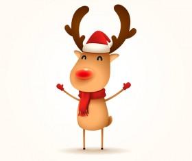 Cute reindeer christmas illustration vector