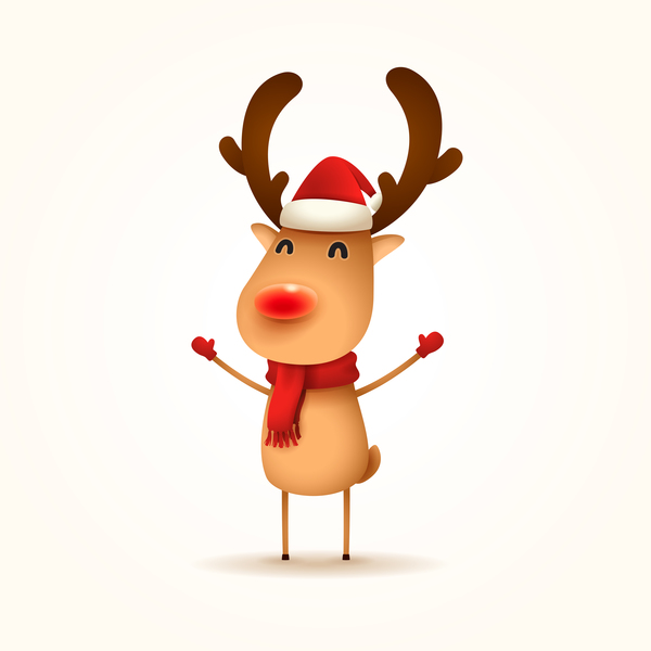 Cute reindeer christmas illustration vector