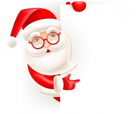 Cute santa with christmas blank background vector 04