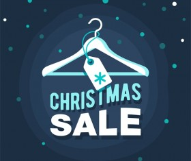 Dark blue christmas sale background vector