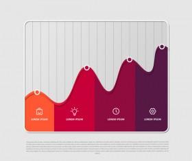 Dark red infographic template vectors 01