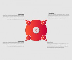 Dark red infographic template vectors 02