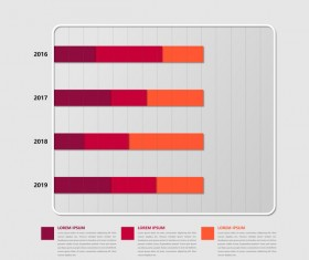Dark red infographic template vectors 03